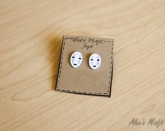 Spirited Away Inspired No Face Mask Earrings