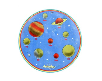 Astro Ray Space Target Game - Vintage Outer Space Decor - Solar System Wall Decor - Man Cave Gift - Spaceship Game Decor - Game Room Decor