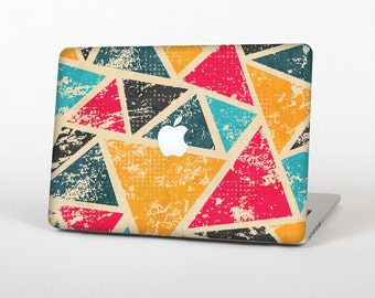 The Chipped Colorful Retro Triangles Skin for the Apple MacBook Air - Pro or Pro with Retina Display (Choose Version)