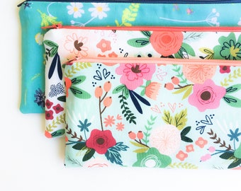 Birthday Gift for Sister, Floral Zipper Pouch, Pencil Case, Pencil Pouch, School Supplies, Cute Gift, Organizer, Sister Gift, Womens Gift