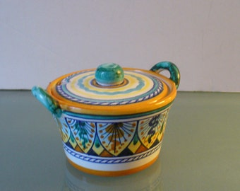 Vintage Made in Italy Fidia Deruta Serving Bowl