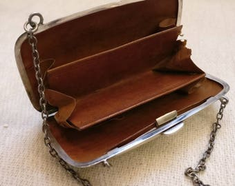 Antique Sterling Silver finger purse, made in 1919 in Birmingham by William Aitken