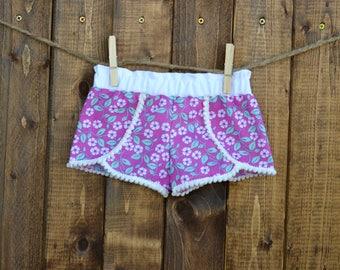 Girl coahella shorts, floral girl shorts, floral baby shorts, pedal shorts, floral pedal shorts, coachella baby