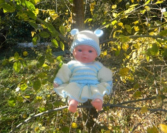 Dress and bonnet for baby