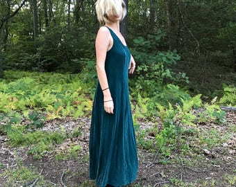 Maxi Emerald Green Tank Flowy Maxi Dress