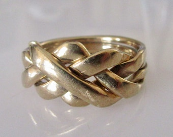 Vintage 9ct Gold Puzzle Ring