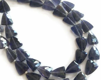 Iolite faceted triangles.  Approx. 7.5x9mm.   Select a quantity.