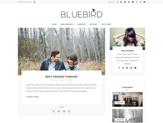 Wordpress theme wordpress template Feminine wordpress theme