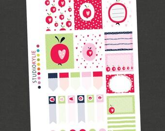 Summer Love Planner Stickers - To suit Erin Condren Vertical and other Planners -  Repositionable Vinyl