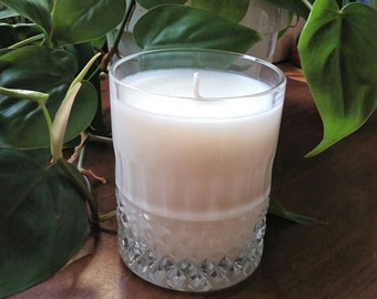 Natural Pine Scented Soy Candle in Crystal Glass