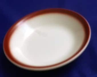 Vintage Vitrified Walker China by Jeannette Corporation Small Sauce Dish, 1970-1983