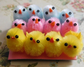 Tiny Vintage Look Easter Chicks - One Dozen