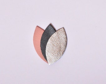 Petals of leather brooch
