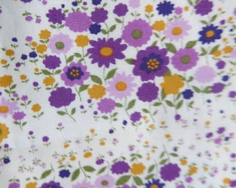 Your multicolor purple floral fabric