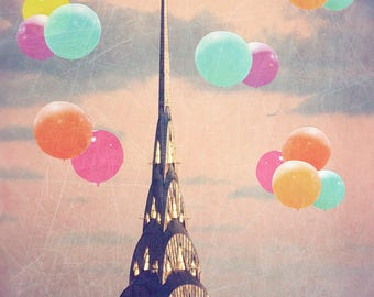 As seen in HGTV MAGAZINE - Balloons Over the Chrysler - photography - New York skyline - Chrysler Building