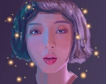 EXID Hyelin Kpop Digital Painting Art Print