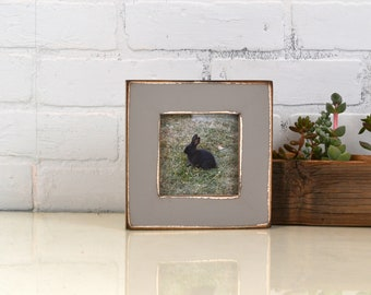 """4x4 Square Picture Frame in 1.5 inch Standard Style with Super Vintage Grey Finish - IN STOCK - Same Day Shipping Frame Gray 4 x 4"""""""