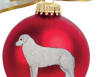 Kuvasz Dog Hand Painted Christmas Ornament - Can Be Personalized with Name