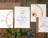 Country Wedding Invitation - the Wagon Wheel - Rustic, Outdoor, Vintage - Design Fee