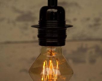 Vintage light bulb - diamond
