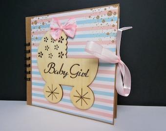 Mini photo album baby girl - baby girl gift