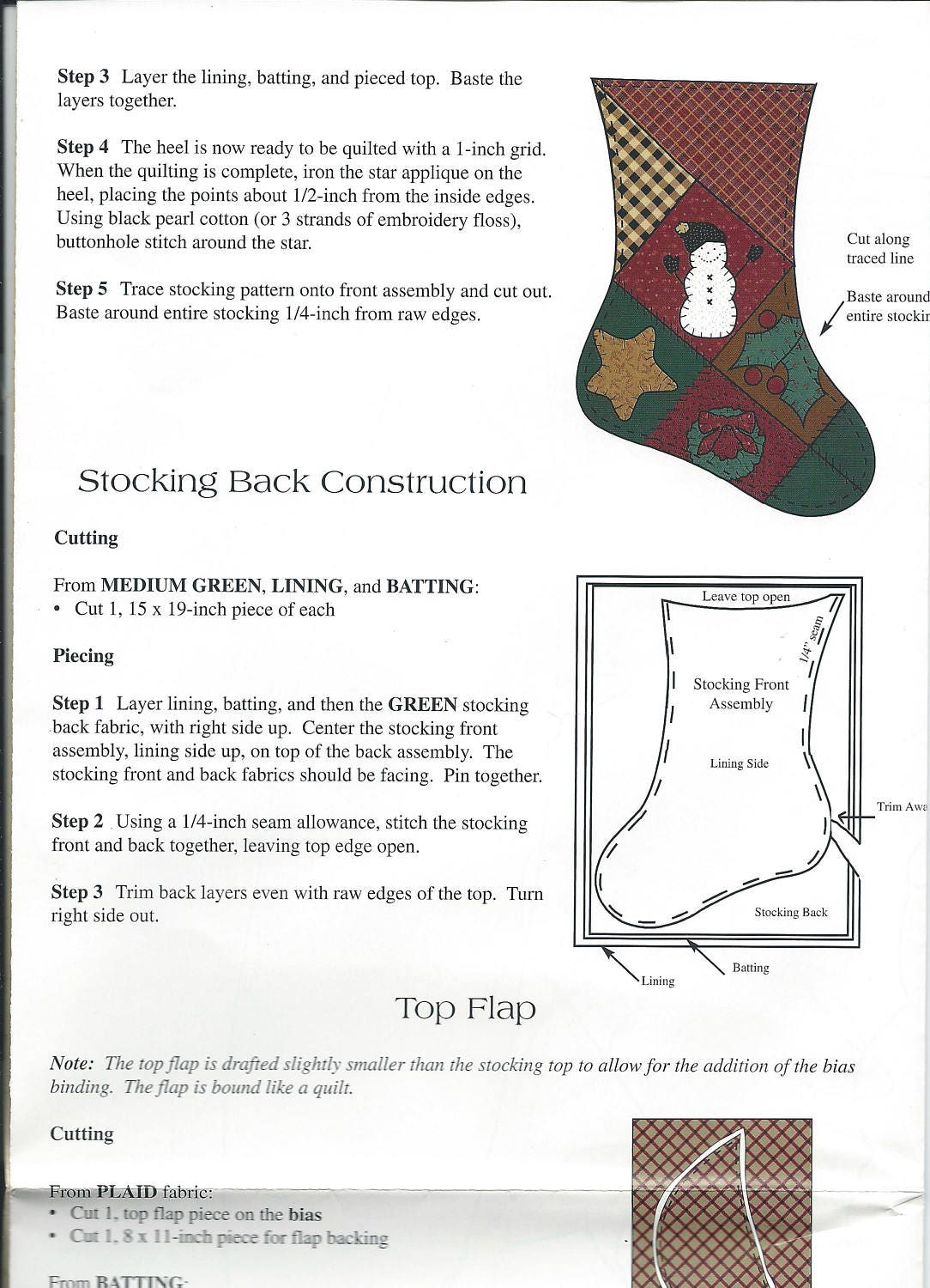 Thimbleberries christmas stocking sewing craft pattern lj 92245 free shipping jeuxipadfo Gallery