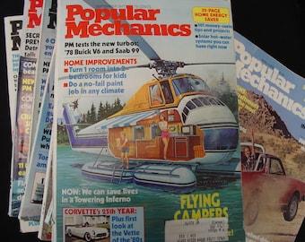 11 Popular Mechanics 8-1977 3-1978/Motors/Magazine/Automobile/Airplane/Howto/DoItYourself/Build