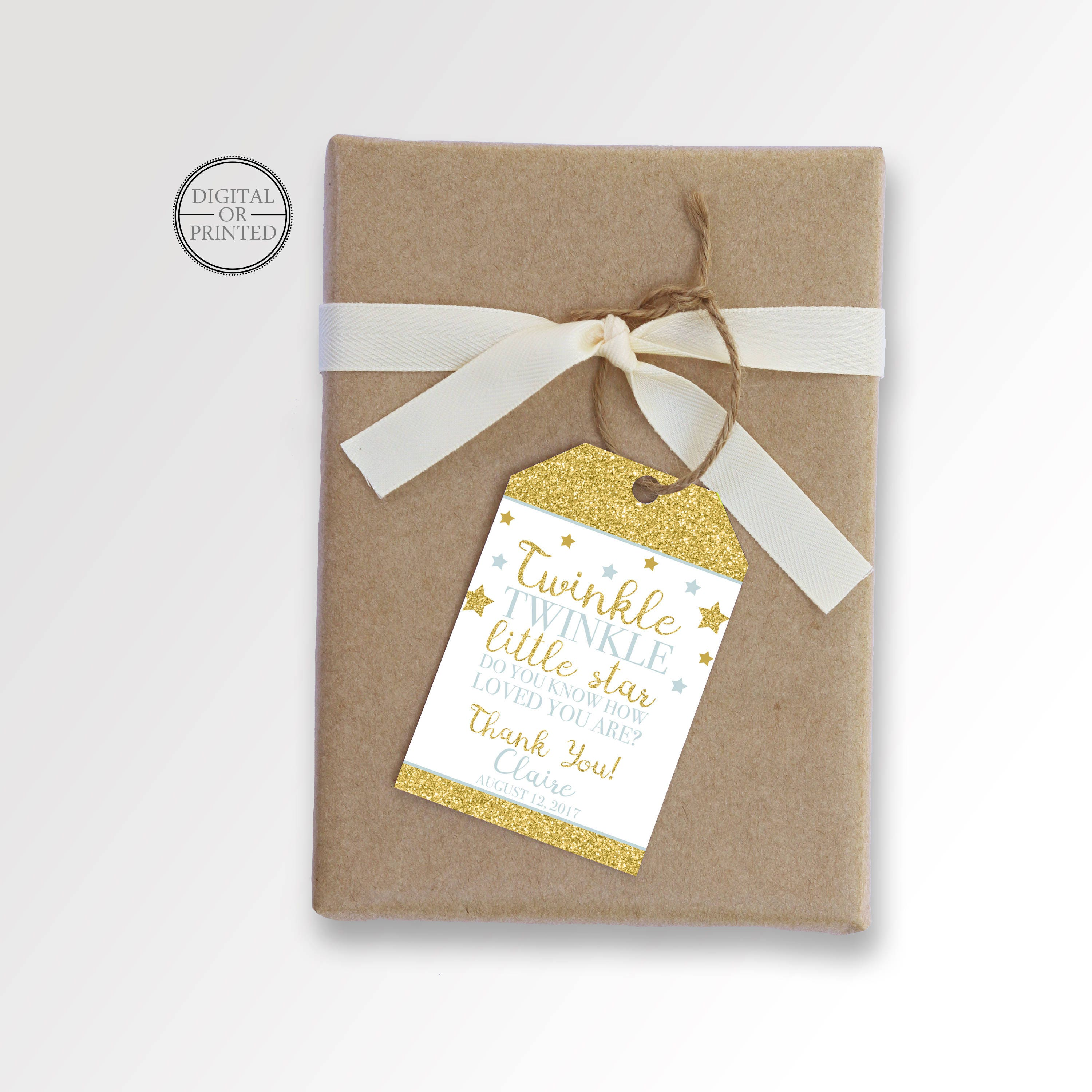 Twinkle Little Star Favor Tags Twinkle Baby Shower Favor Tag
