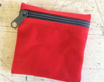 Change purse, condom pouch, vegan coin purse,change pouch, zipper pouch, extra small zip pouch, pocket pouch, credit card pouch, money pouch