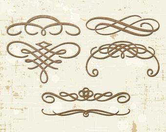 Ornamental Swirl Laser Cut Chipboard Scrapbooking Embellishments