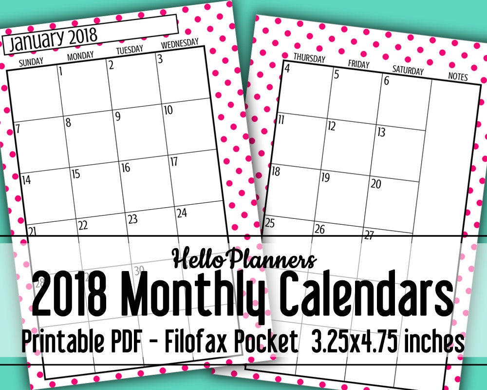 This is a photo of Trust Printable Pocket Calendars