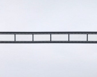 "Film Strip Washi Tape Sample - 24"" sample - Filming Washi, Movie Washi"