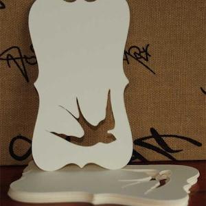 100 Swallow Die Cut Vintage Cream Blank Tags Or Labels 2 X