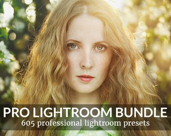 Pro Adobe Lightroom Presets Bundle - Lightroom Presets for Adobe Lightroom 4, 5, 6 and CC - Wedding, Portrait, Landscape