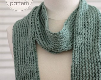 Knitting Pattern Scarf. Knitting Pattern. Knit Scarf. Knit Patterns. DIY Scarf. Knitting Accessories. Knitted Scarf Pattern. Cotton Scarf