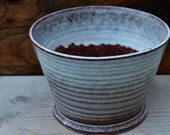 West Raven Glazed Flowerpot