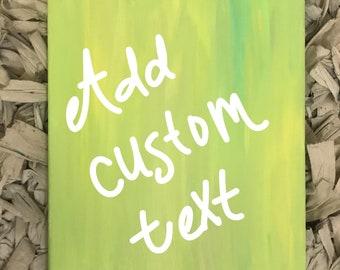 Customizable Canvas