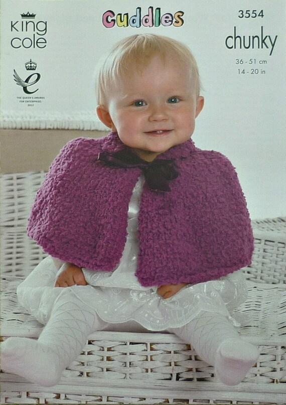 Baby Knitting Pattern K3554 Babies Short Cape Knitting Pattern