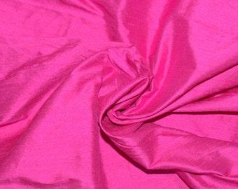 Silk Dupioni in Persian Rose  - fat quarter-D 239
