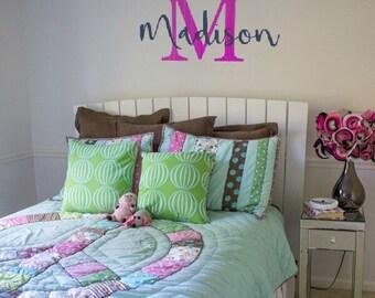 Kids Monogram Wall Decal