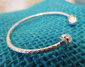 Tribal Cuff Arm Band Sterling