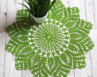 Crochet doily, 50 cm doily, doilies, crochet doilies, lace doily, green doily, doilies crochet, table centerpiece, large doily, doily, green