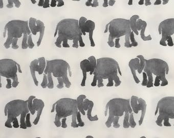 custom baby lovey/blanket ~ gray watercolor elephants ~ chic couture ~ baby accessories ~ baby lovey/blanket from lillybelle designs