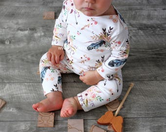 Baby girl clothes, baby girl, baby girl romper, organic romper, organic baby clothes, newborn baby romper, infant romper, baby clothes