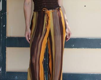 Vintage chocolate brown organic cotton halter top.one/size