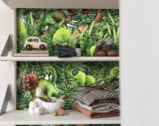 Dinosaur wallpaper, Kids wallpaper, Baby Boy dinosaur room, dinosaur wall art, dinosaur wall stickers, nursery wallpaper, nursery decor
