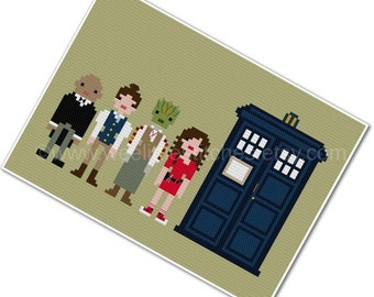 The Doctor's Companions 2 - The *Original* Pixel People - PDF Cross-stitch Pattern