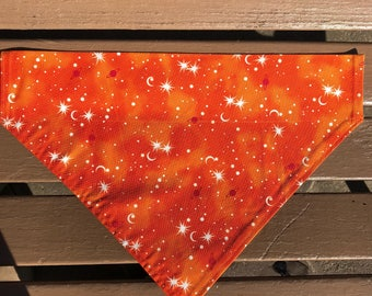 Orange Cosmos Over-the-Collar Bandana