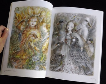 Enchanted World Art Book by Paulina Cassidy SIGNED illustrations collection faeries mermaids cats witches wonderland wizard of oz