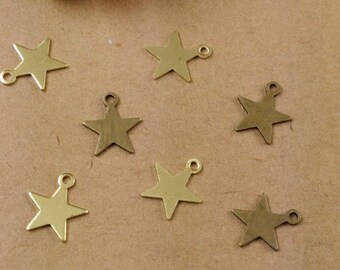 Set of 8 stars, multicolored ref FP89 charms